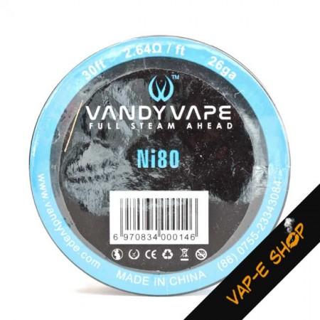 Ni80 Vandy Vape - Bobine de fil résistif 26GA