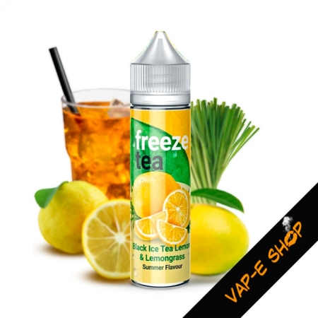 Black Ice Tea Lemon Lemongrass, Freeze Tea, 50ml