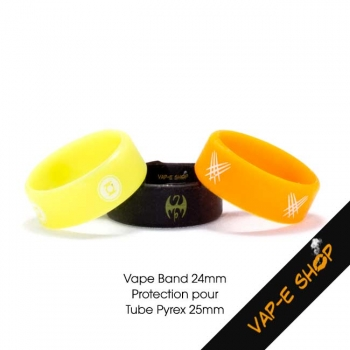 Vape Band Silicone - Bague de protection pour tube pyrex 25mm