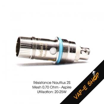 Résitance Nautilus 2S 0.7Ohm - Aspire