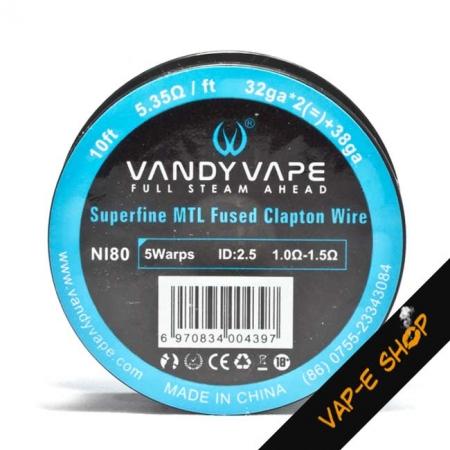 Bobine Ni80 32GA*2+38GA Fused Clapton - Vandy Vape