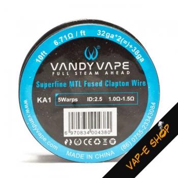 Bobine fil KA1 32GA*2+38GA Fused Clapton - Vandy Vape