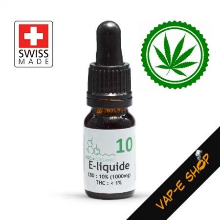 KDC Organic 10 - E-liquide CBD 1000mg
