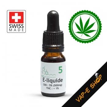 KDC Organic 5 - E-liquide CBD 500mg