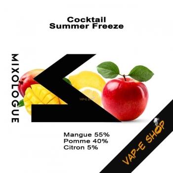 E Liquide Summer Freeze. Cocktail Le Mixologue