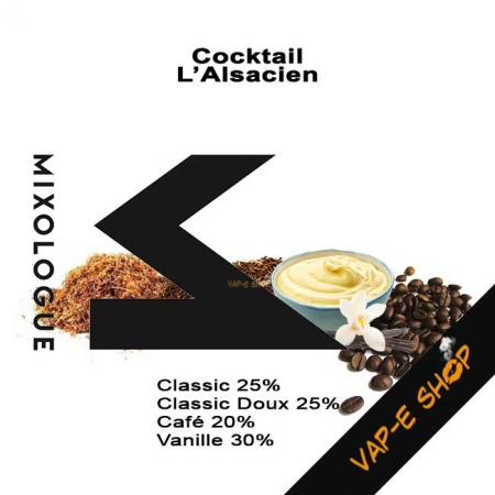 E Liquide L'Alsacien - Cocktail Le Mixologue