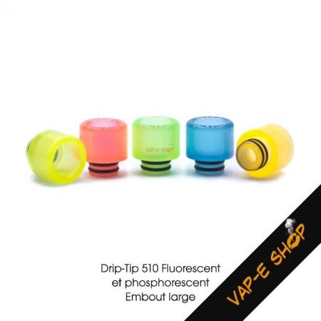 Drip Tip lumineux 510 Wide Bore